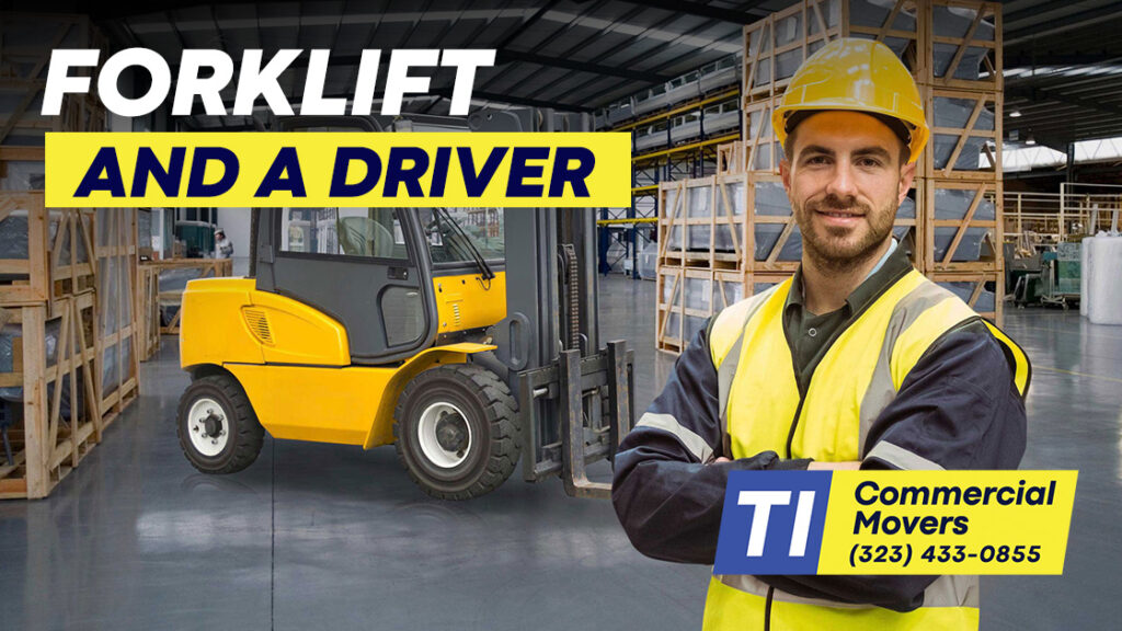 Rent forklift and a driver